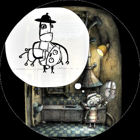 Machinarium Walkthrough – The Lift and Kitchen